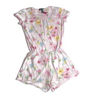 LRL Lauren Ralph Lauren Pink Pajamas Set Floral